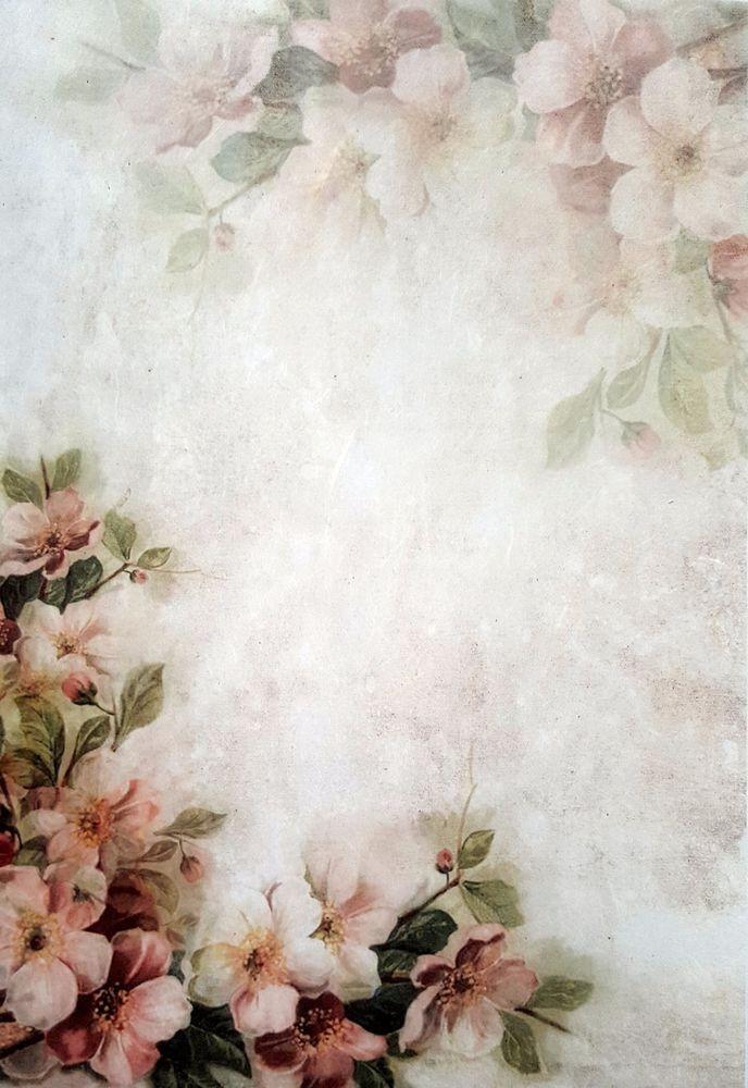 Rice Paper For Decoupage Sheet Art Light Roses