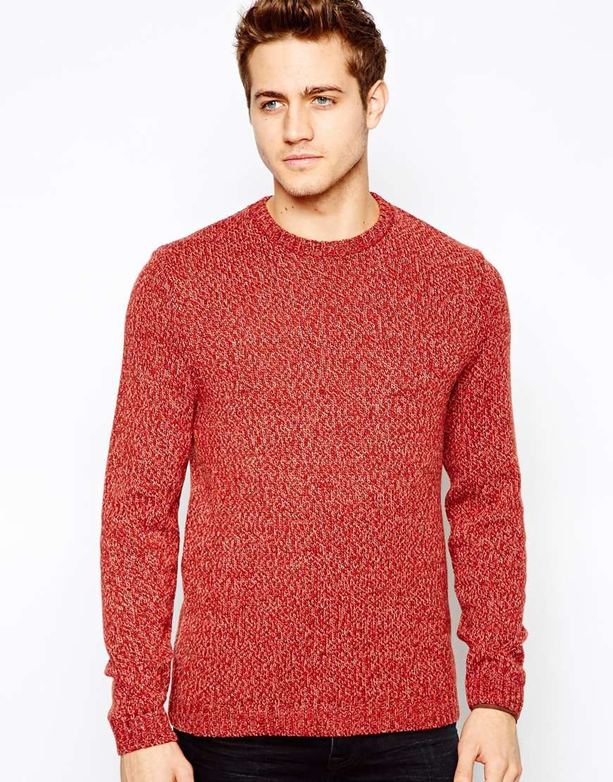 ASOS Wool Mix Sweater in Twisted Yarn