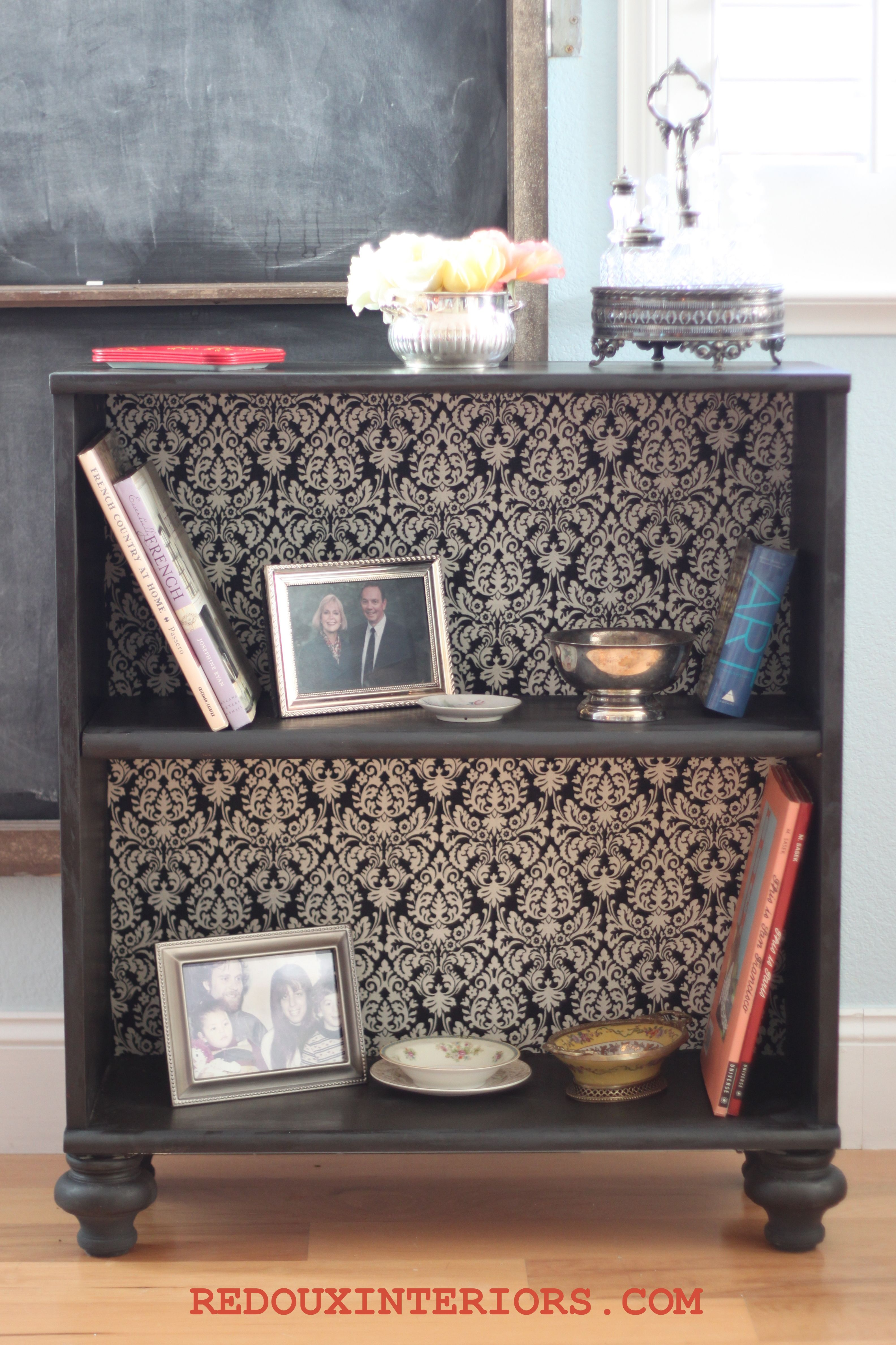 Add Feet To Cheap Bookshelves Or Dressers Before Painting For An Immediate Upgrade Fabric Added With Spray Adhesive