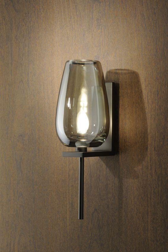 contemporary wall light glass lume