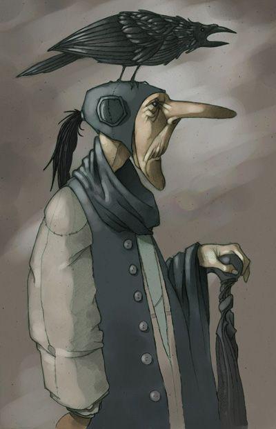 Download crow_head_color   Art, Character art, Inuit art