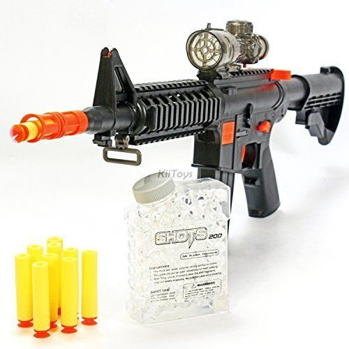 Nerf-Like M16 Machine Gun Foam Dart Blaster Rifle Kids Toy Water Ball NEW  Refill