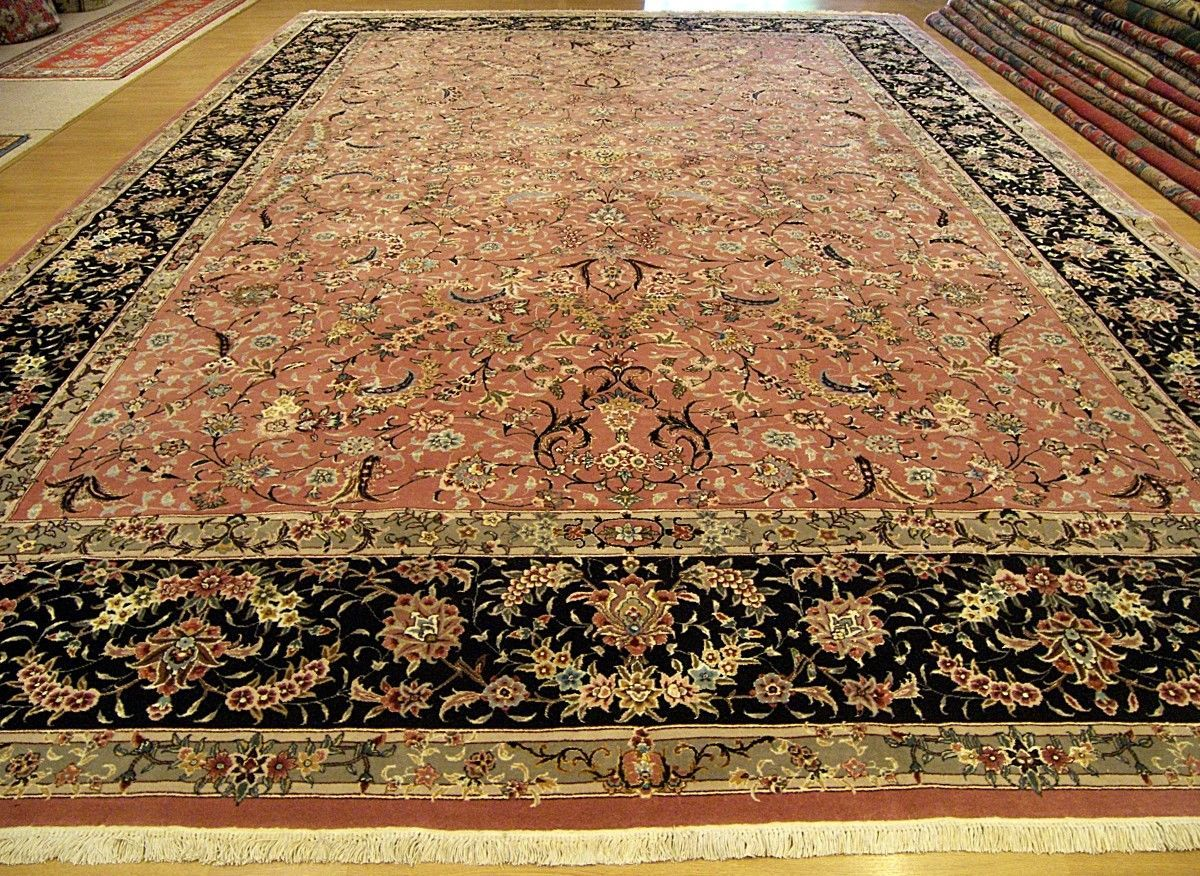 10 X 14 Hand Knotted Fine Quality Wool Silk Persian Oriental Rug Ebay Rugs Handmade Persian Rugs Silk Area Rugs