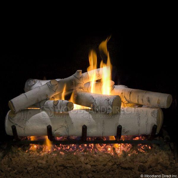 Sierra Birch Vented Ceramic Gas Logs