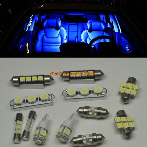 12 Bright Blue Led Interior Lights Package For 2007 2013 Chevy
