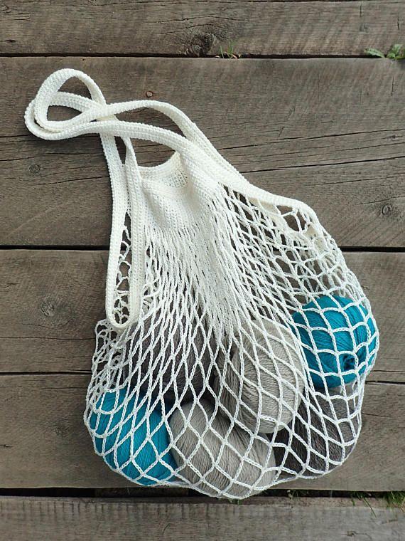 PATRÓN de ganchillo para playa, bolso de mercado, bolso de compras reutilizable retro, bolso de malla, bolso de hombro, bolso Boho, patrón de ganchillo fácil – PDF