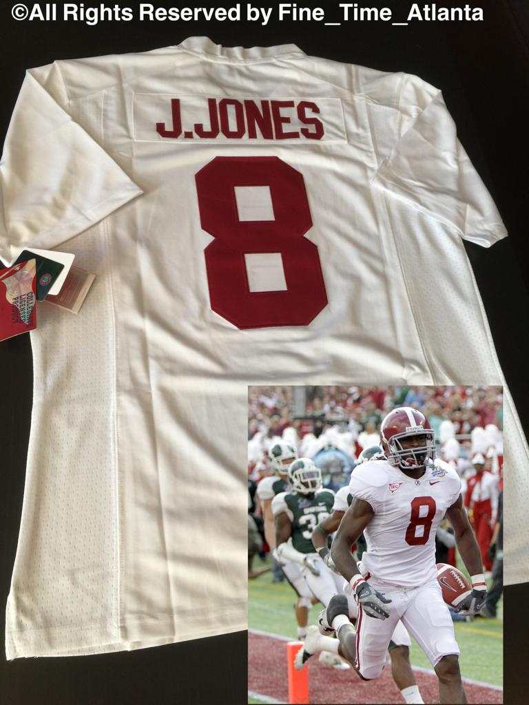 buy popular 2d8d2 d3695 NEW IMPOSSIBLE 2 FIND Julio Jones Alabama Men's Road / White ...