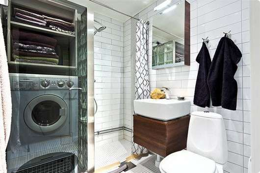 Bagno piccolo con lavatrice - Bagno con mobiletto porta lavatrice ...
