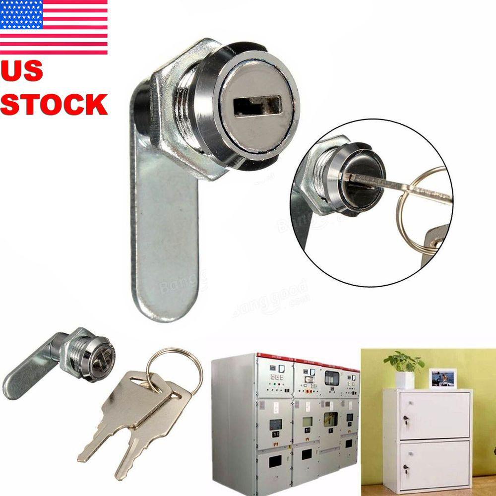 Cam Lock File Cabinet Mailbox Toolbox Desk Drawer Cupboard Locker 2 Keys Cupboard Desk With Drawers 2 Keys