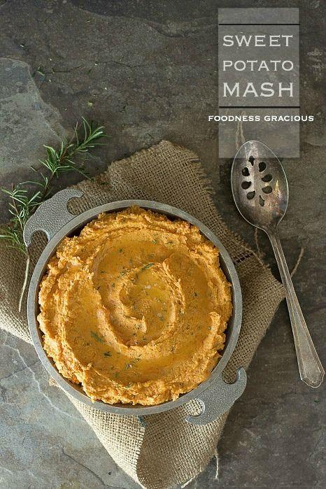Sweet Potato Mash with Fresh Herbs | Foodness Gracious