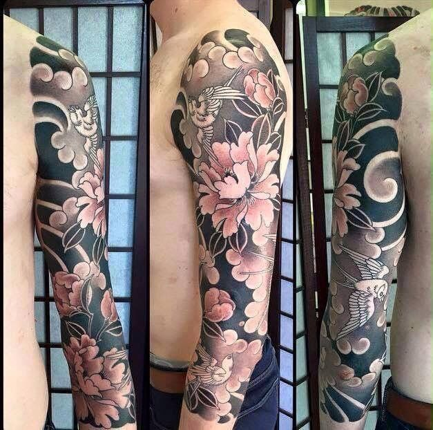 Japanese Met Vogels Japanese Sleeve Tattoos Flower Tattoo Sleeve Tattoo Sleeve Designs,White Interior Design Background