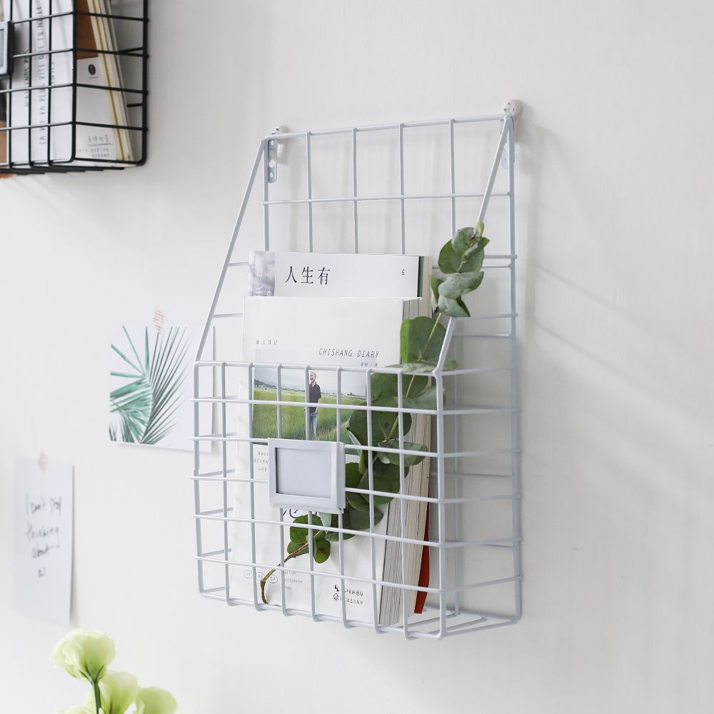 Small White Wire Wall Grid For Any Bedroom Shelves In Bedroom Wall Shelves Bedroom Living Room Storage