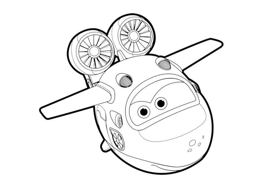 Ausmalbilder Super Wings Jet Ausmalen | kolorowanki | Pinterest