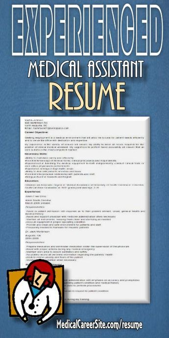 Experienced Medical Assistant Resume Sample http - html resume