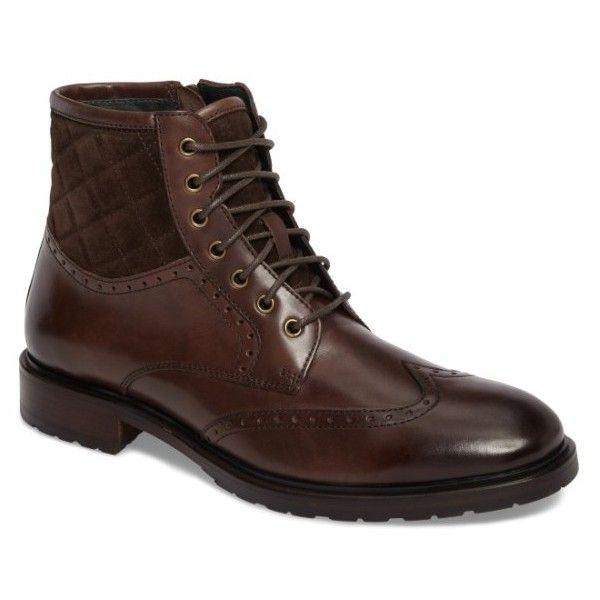 1e088e19a90 Men's Johnston & Murphy Myles Wingtip Boot ($198) ❤ liked on ...