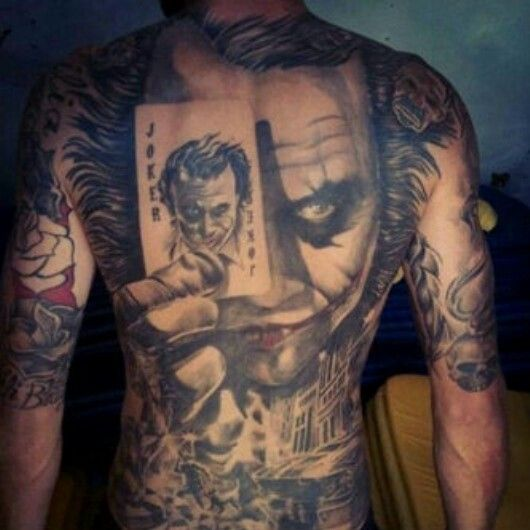 The Best Tattoo Ever The Joker Joker Card Tattoo Joker Tattoo Portrait Tattoo