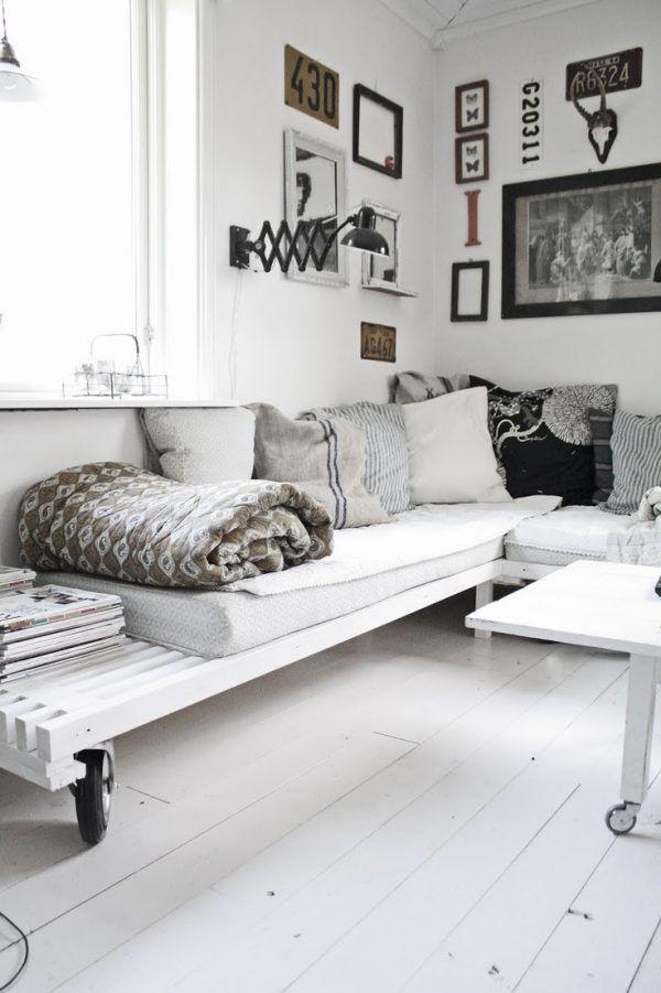 Loungebank maken in woonkamer | Huis | Pinterest