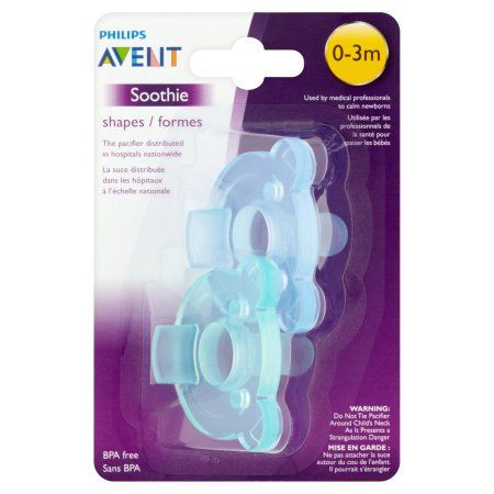 Months Philips Avent Soothie Pacifier BPA Free Orthodontic Baby Soother 0 to 3