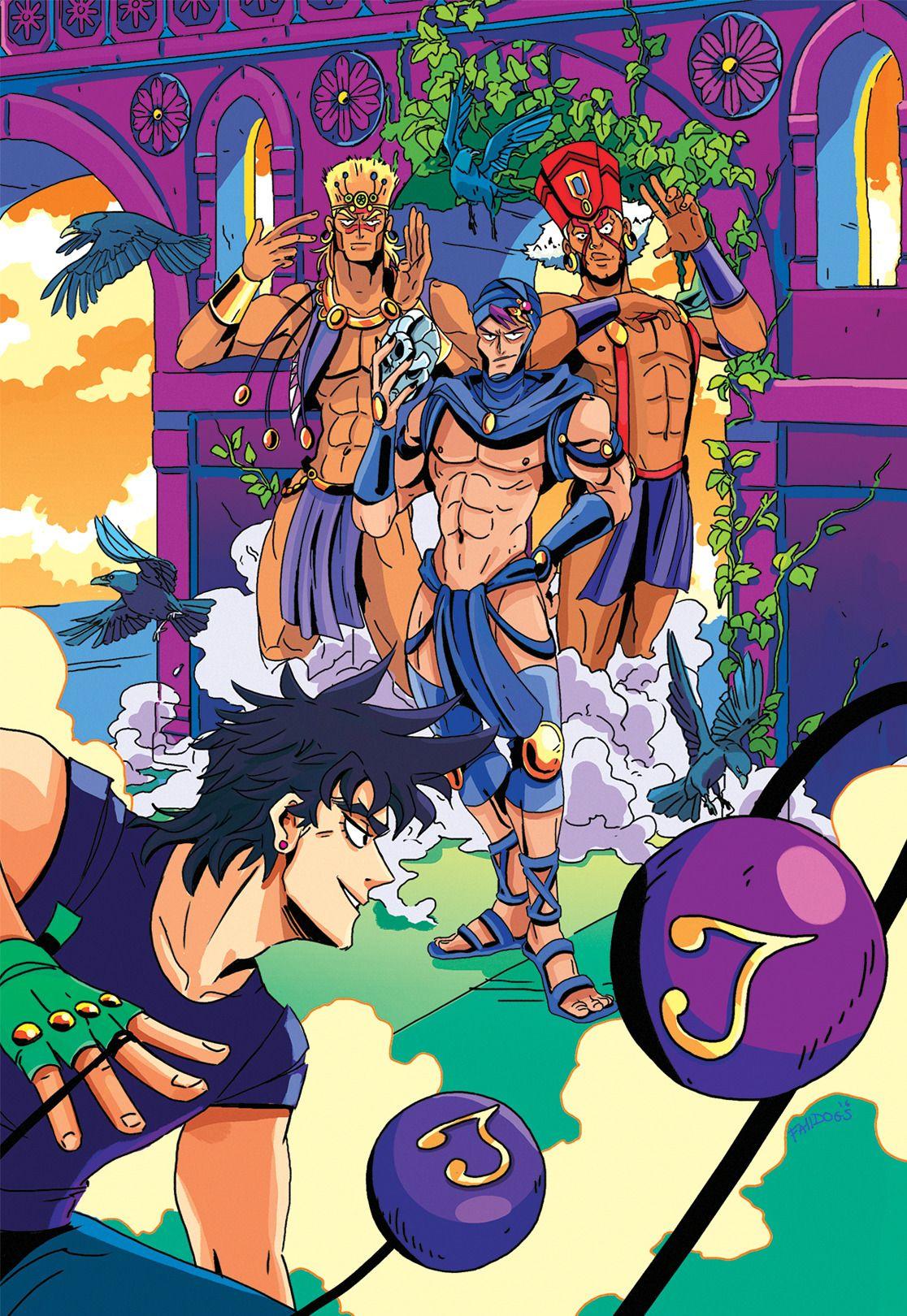 Joseph vs The Pillar Men || Tumblr || Battle Tendencies | hoi in