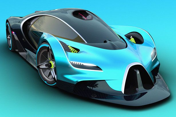 Bugatti Concept Proposal Inspired Futuristic Racing Car By Adrian Gins
