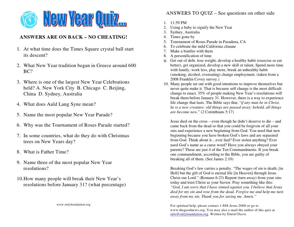 new years trivia questions and answers - Google Search | Christmas ...
