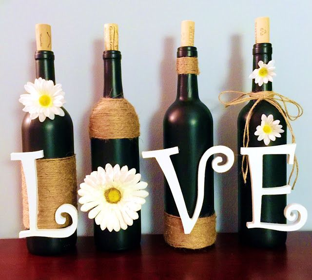Wine Bottle Diy Crafts: DIY: Wine Bottle Decoration