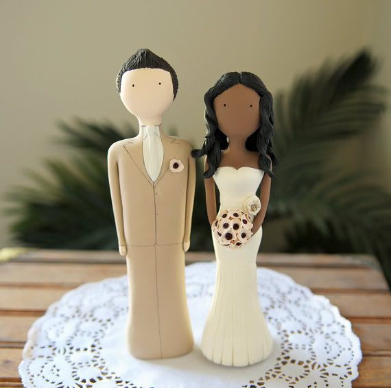 interracial cake toppers: this is going to be a challenge! May have ...