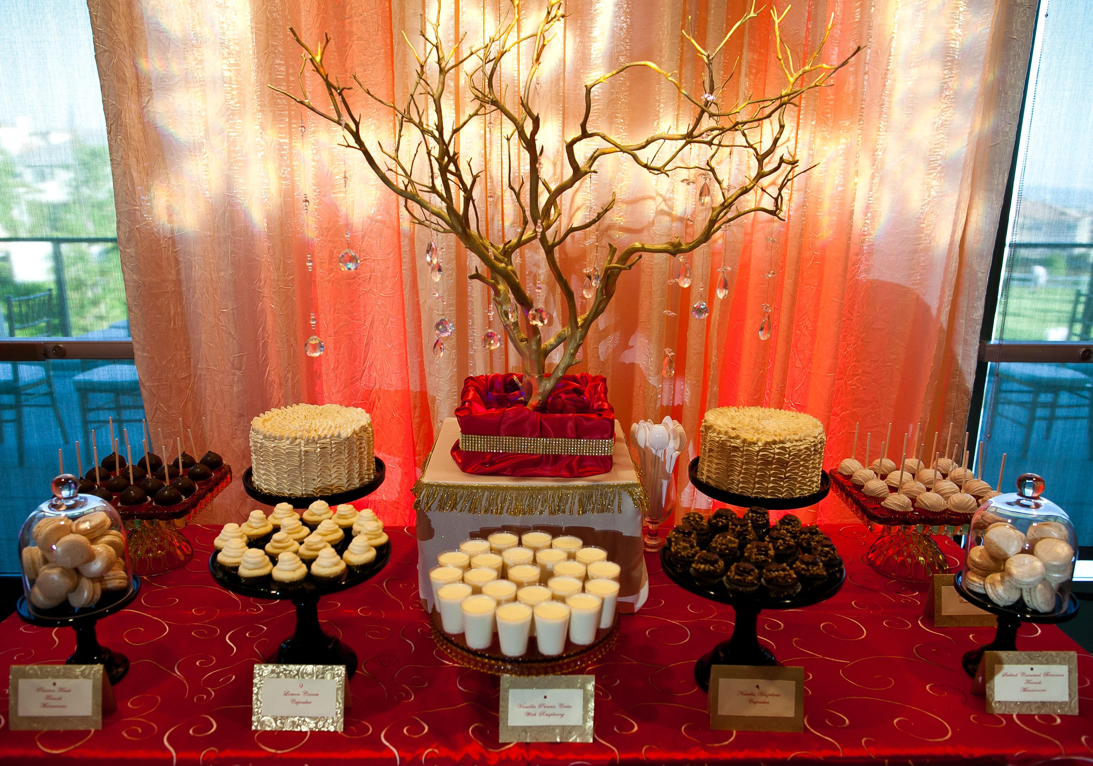 Red and gold themed dessert table my parties pinterest dessert