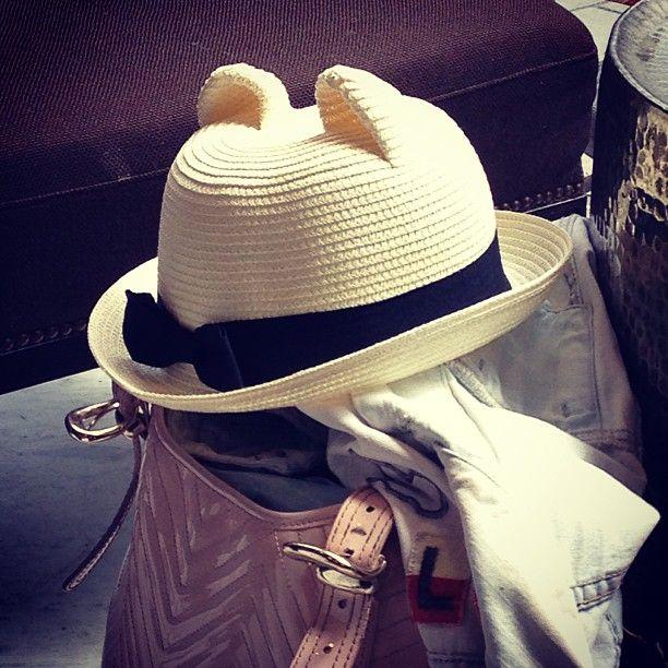 Cat Ear Straw Hat Hats Straw Hat Cat Ear