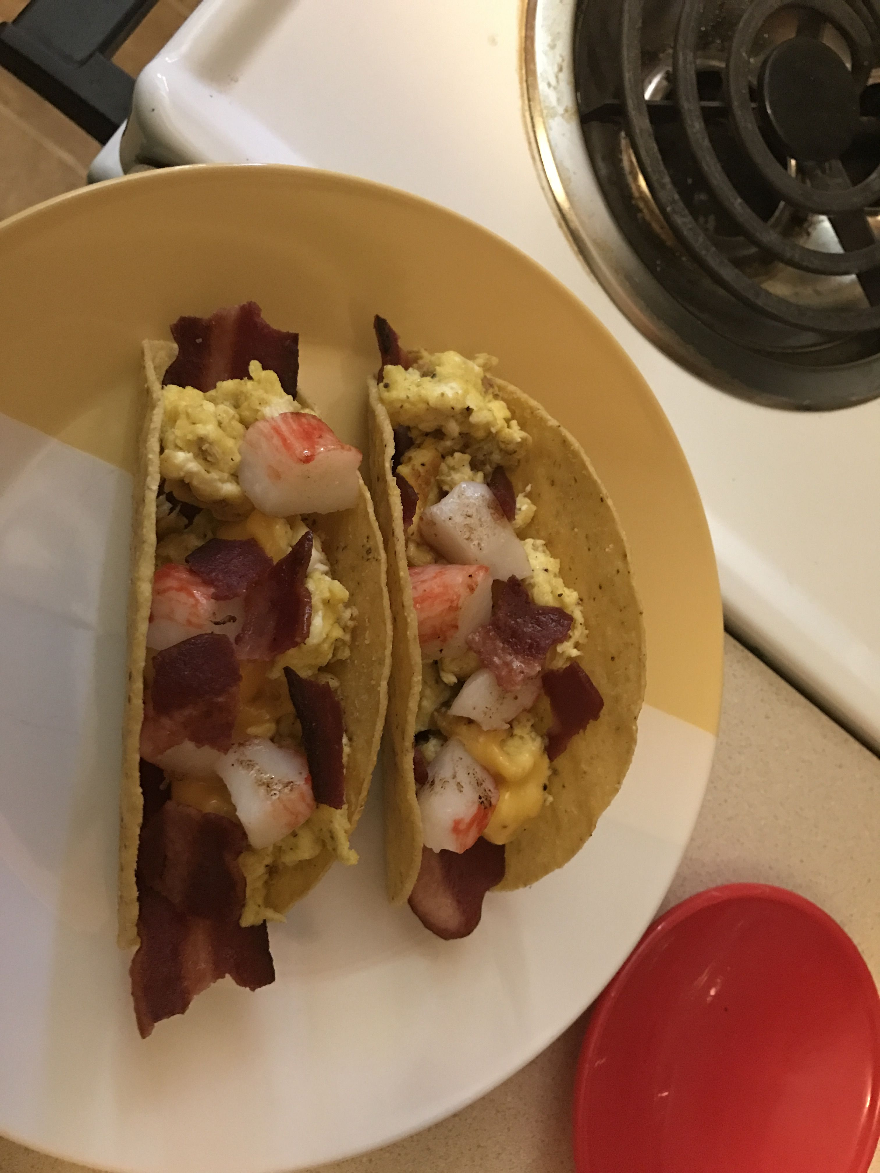 when they say no bread 😩 you improvise breakfast tacos scrambled eggs mexican blend shredded