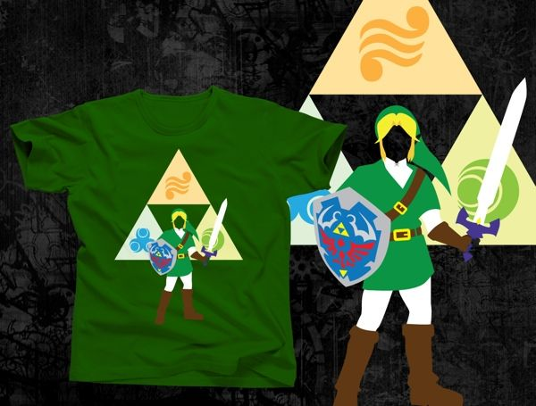 Hero Link and Shadow Link t-shirts