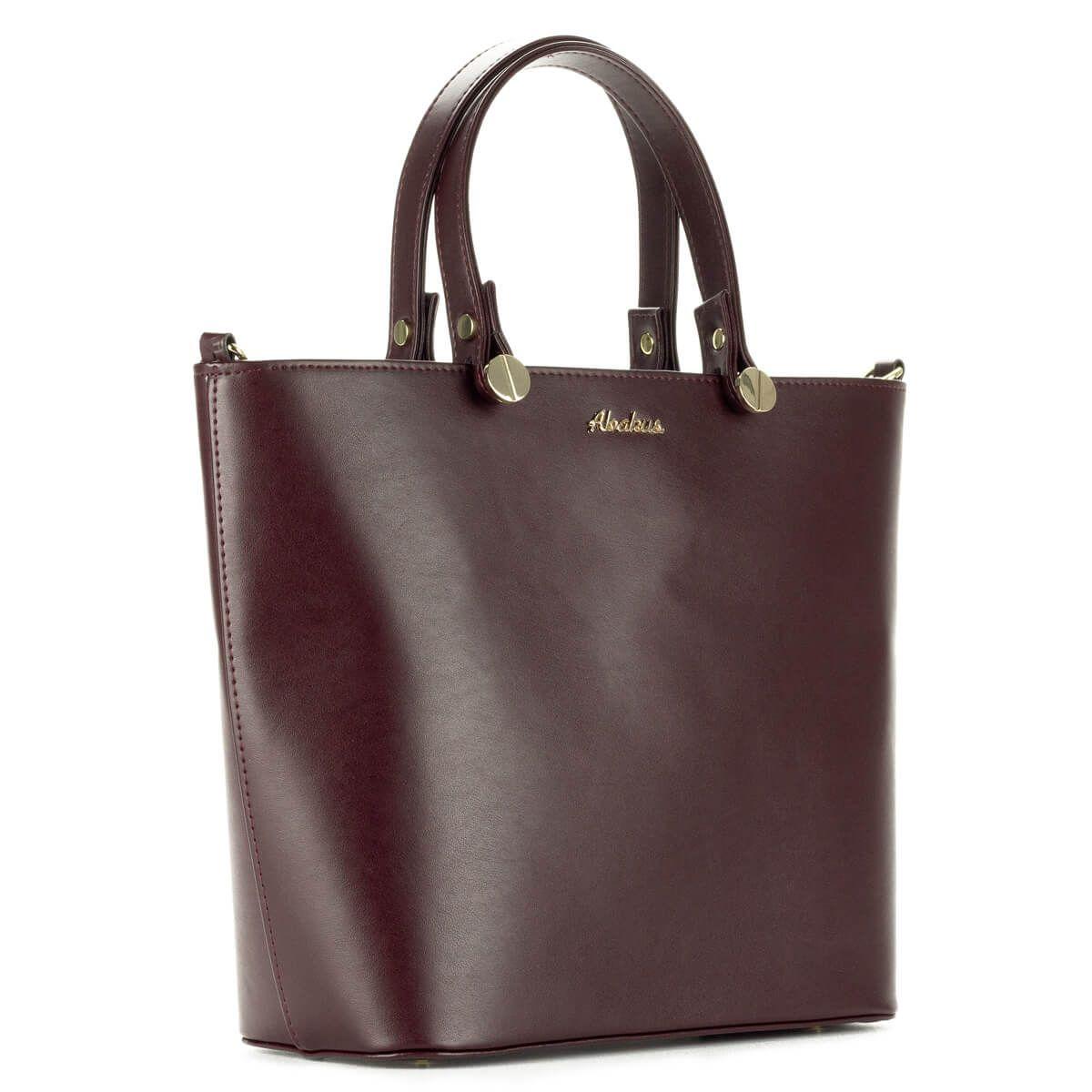 c4d2d567fa6e Abakus bordó női táska osztott belső térrel, belül telefon tartó zsebbel és  cipzáros zsebbel.