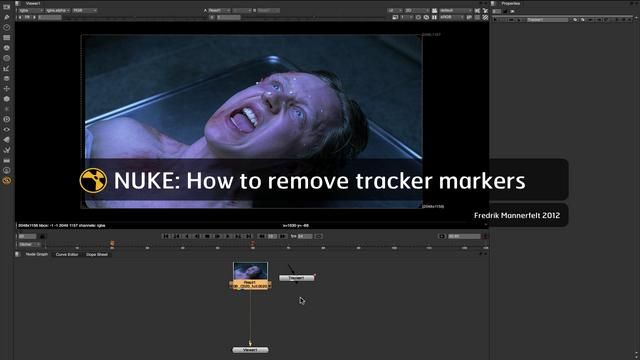 Nuke: Tracker Marker Removal (Paint Node)   VFX   Matte