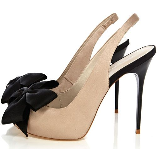 amazing price for sale Karen Millen Bow-Accented Peep-Toe Pumps cheap exclusive xGOENSThxG