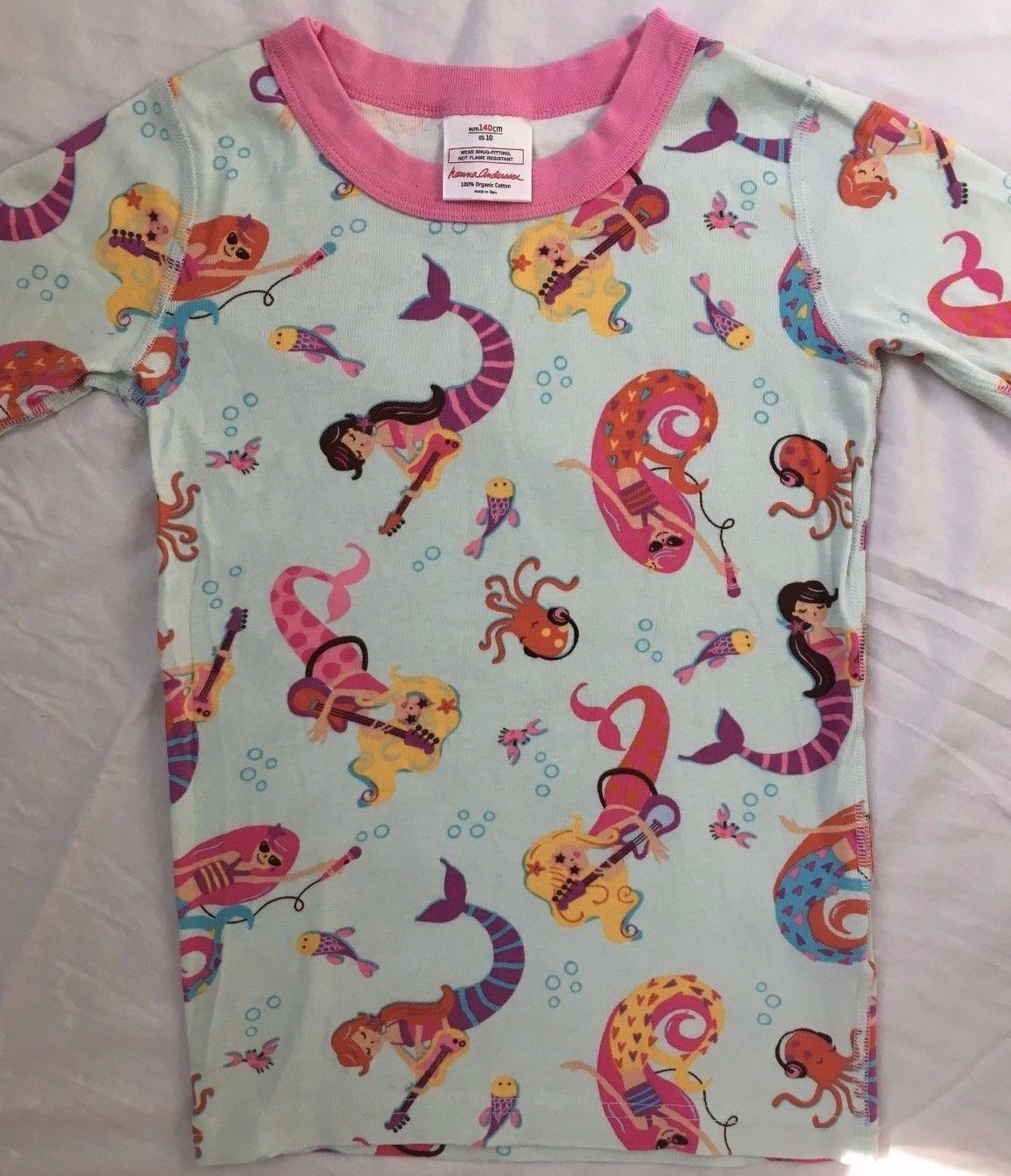 2a8f6f8839 Girl s Hanna Andersson short organic cotton mermaid pajamas size 140 ...