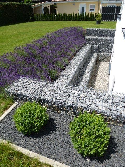 Gartengestaltung Mit Gabionen , Ein Wunderbarer Lichthof Ist Entstanden Wo Vorher Lediglich Ein
