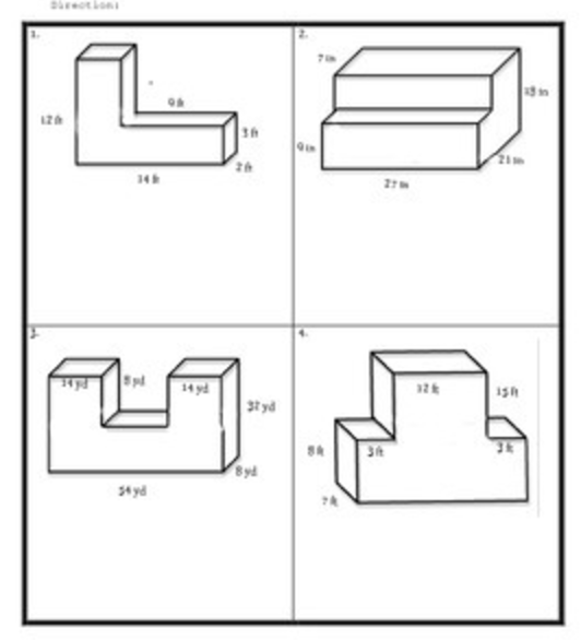volume of composite figure quiz students maths and common cores. Black Bedroom Furniture Sets. Home Design Ideas