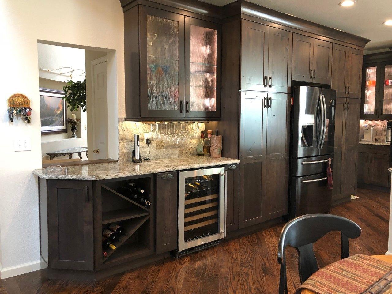 Our kitchen remodel, the beverage center. | Kitchen ...