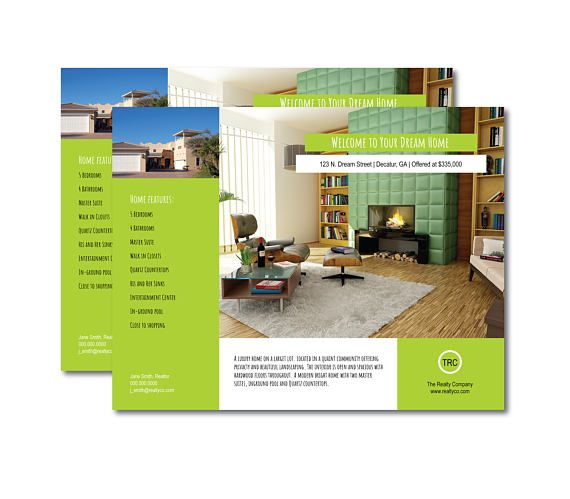Real Estate Flyer Welcome to your Dream Home 11 x 85 inch Flyers