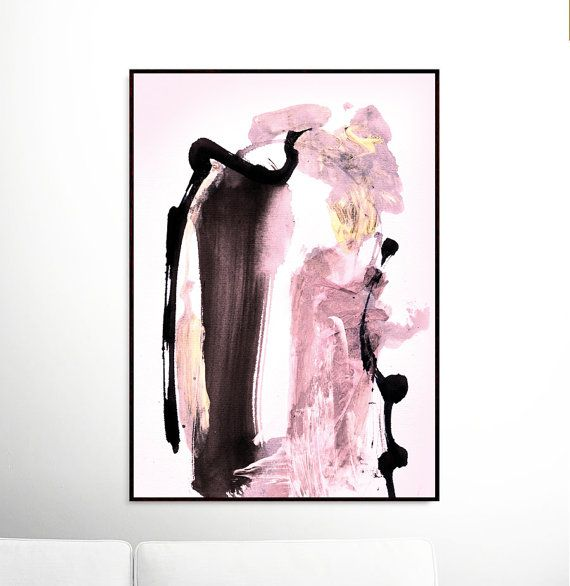 Printable abstract art a minimal contemporary piece of abstract artwork created using acrylic paints on