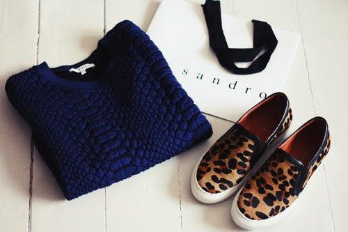 SNEAKERS WITH ANIMALIER TEXTURE