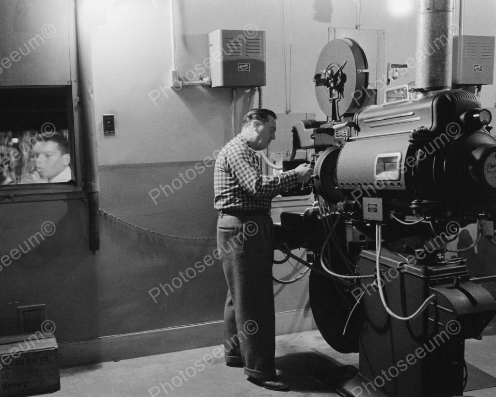 Photograph Movie Pinterest: Antique Movie Theater Projector 1900s 8x10 Reprint Of Old