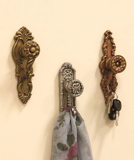 Doorknob wall hooks