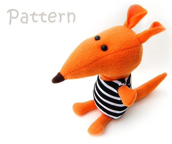 Mouse pattern, sewing toy pattern, stuffed mouse, plush mouse doll ...