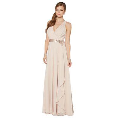 No. 1 Jenny Packham Designer rose ruched waterfall maxi dress- at ...