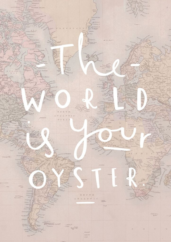 The world is your oyster map print oysters english and printing the world is your oyster map print old english company gumiabroncs Image collections