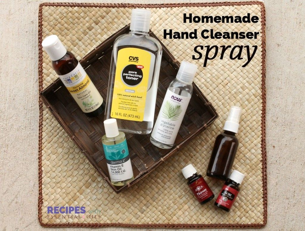 Homemade Moisturizing Hand Cleanser Spray | RecipesWithEssentialOils.com
