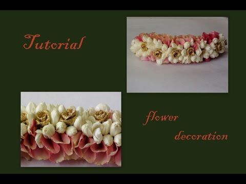 Mehndi Flower Garlands : Diy flower garland gajra veni for indian wedding how to make
