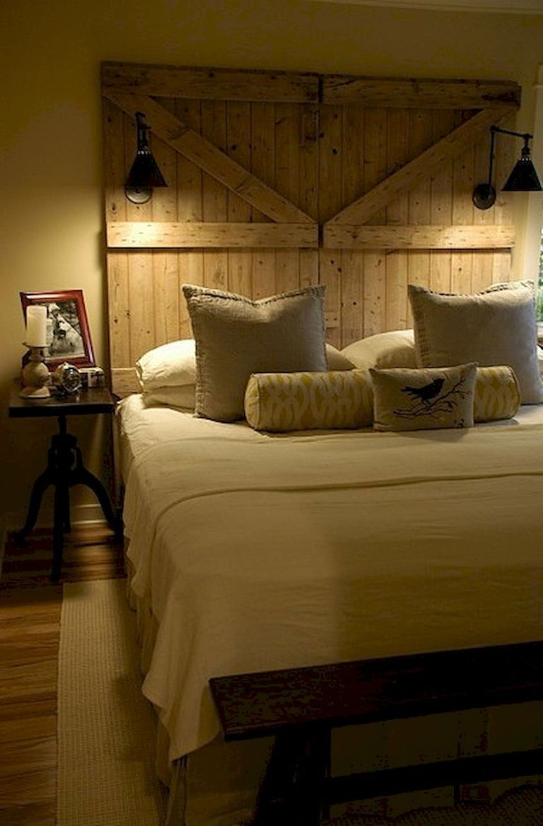 60+ Rustic Farmhouse Style Master Bedroom Ideas