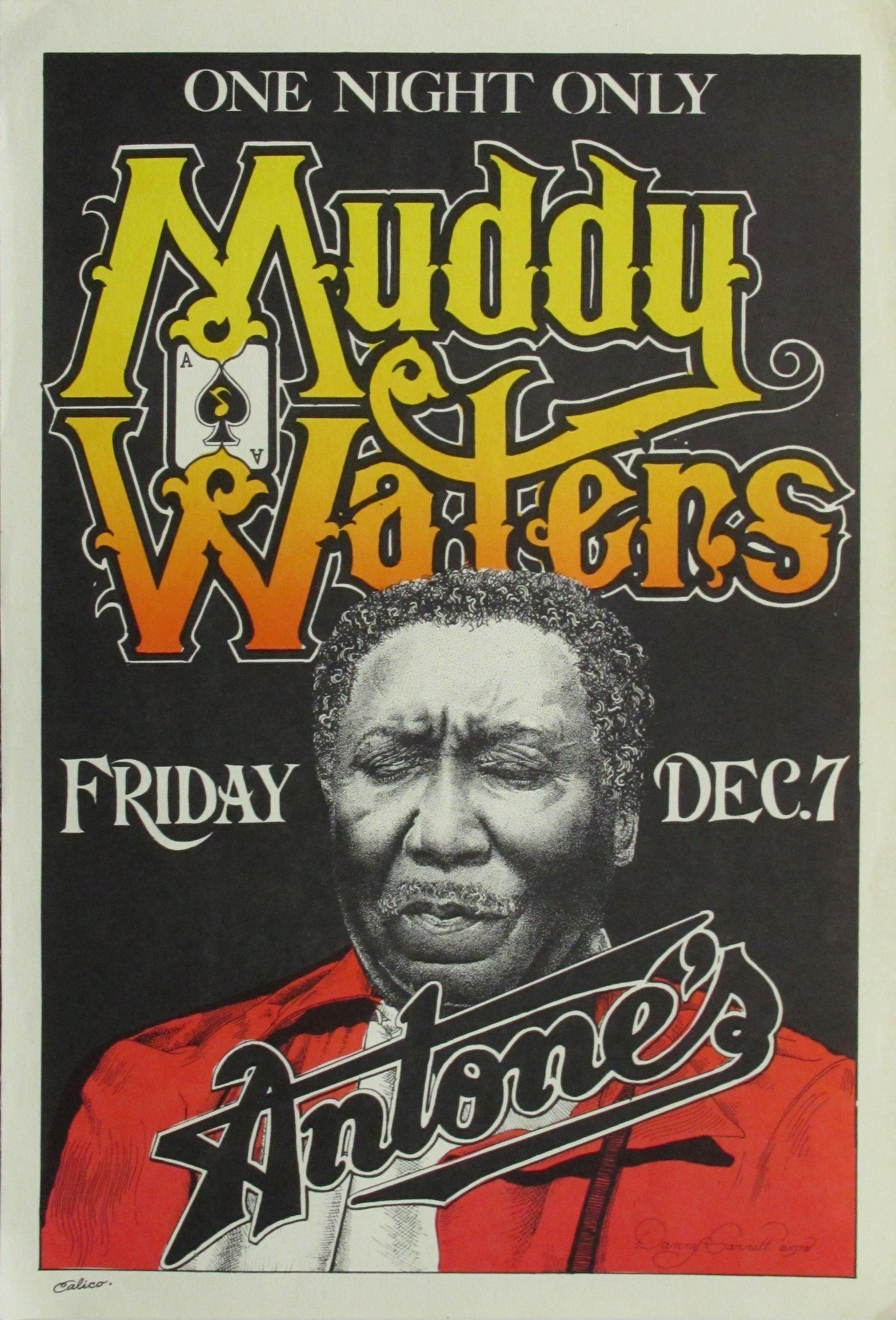concert posters vintage | Actual Muddy Waters Original ...